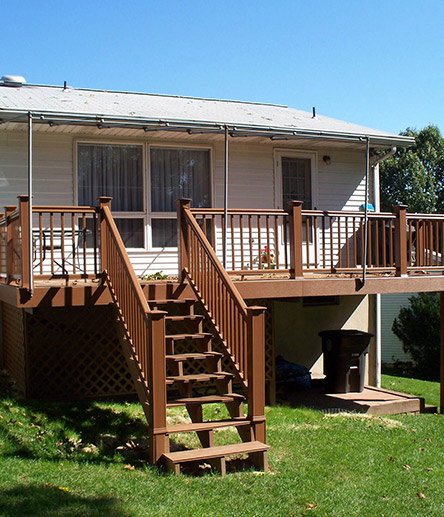 Deck porch contractors in lehigh valley outdoor living for Second story deck cost